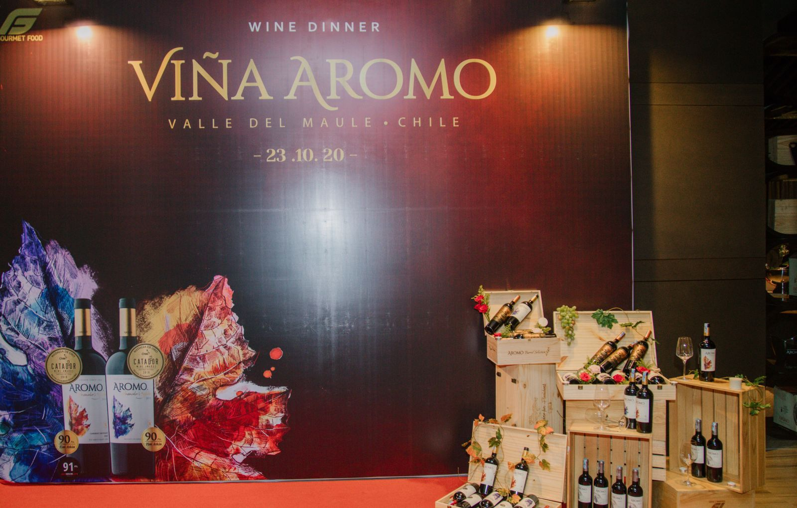 Background Aromo Wine Dinner tại Pullman Vũng Tàu